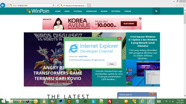 Hot News: Internet Explorer 12 Developer Channel Sudah Dirilis
