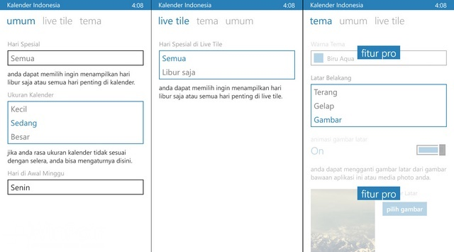 Kalender Indonesia: Aplikasi Kalender Windows Phone Khusus untuk Orang Indonesia
