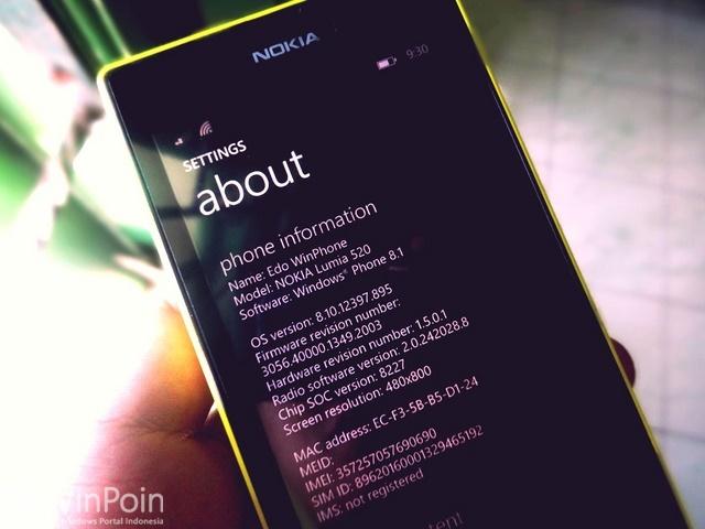 Wah..Ada Update Windows Phone 8.1 PFD ke Build 12400