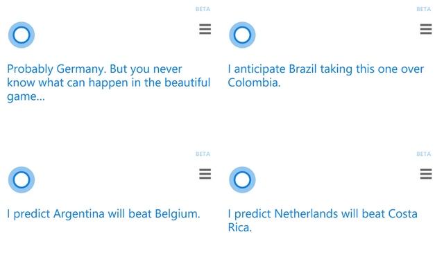 Wow..Cortana Berhasil Memprediksi Hasil 16 Besar Piala Dunia dengan Sangat Akurat!