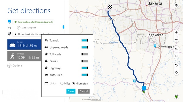 HERE Maps untuk Windows 8.1 Diupdate, Inilah Fitur Barunya
