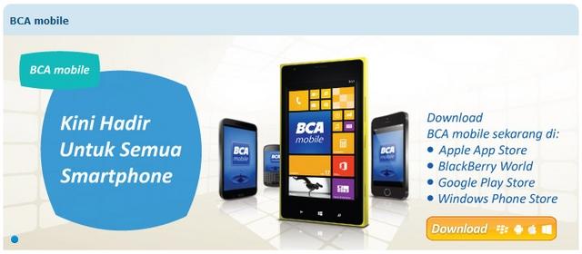 Windows Phone Menjadi Smartphone Utama yang Dipajang di Situs BCA Mobile