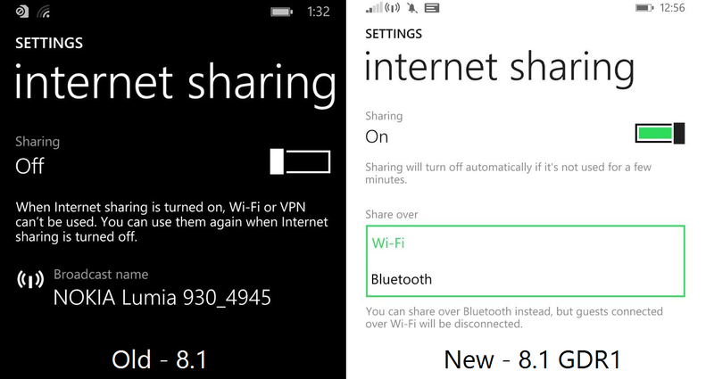 Sharing Internet via Bluetooth Hadir Melengkapi Windows Phone 8.1 Update 1