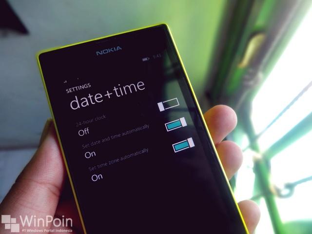 Berkat Windows Phone 8.1 Update 1, Ada Dukungan Pengaturan Waktu Secara Otomatis