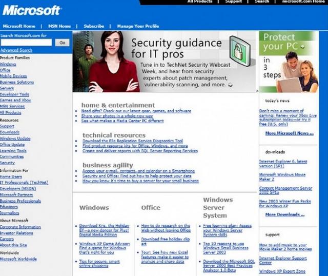 Inilah Evolusi Website Microsoft dari Masa ke Masa