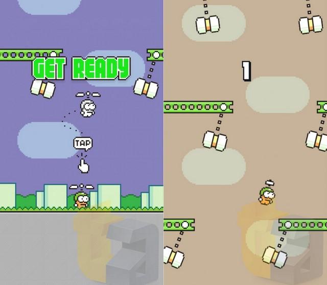 Inilah Swing Copters: Game Terbaru Buatan Don Nguyen, Sang Creator Flappy Bird!