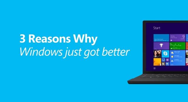 Inilah 3 Alasan Kenapa Windows 8.1 Update Lebih Baik Menurut Microsoft