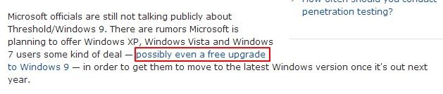 Inilah Kenapa Windows 9 Tidak Akan Gratis untuk Pengguna XP dan Vista