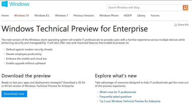 5 Fakta Seputar Windows 9 Preview yang Kita Ketahui Dari Halaman Downloadnya