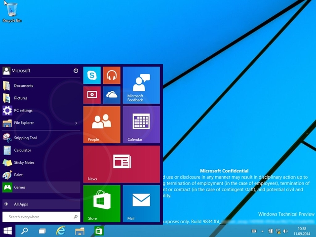 Seperti Inilah Start Menu di Windows 9 (Video)