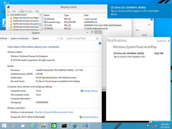 Cara Mengaktifkan Notification Center di Windows 10 64-bit