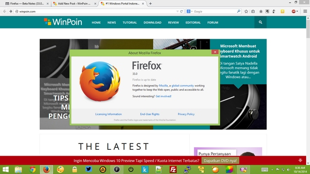Wow..Firefox 33 Sudah Dirilis, Ayo Update! (+Review)