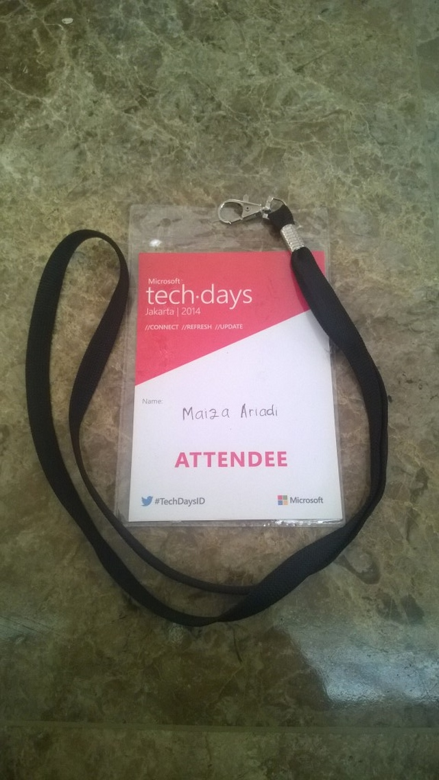 Footage Event ID Techdays 2014 oleh Maiza Ariadi (Super Moderator WinPoin)