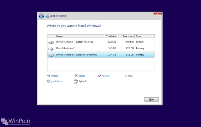 Cara Install Windows 10 Preview Dual Boot dengan Windows 7 / 8 / 8.1