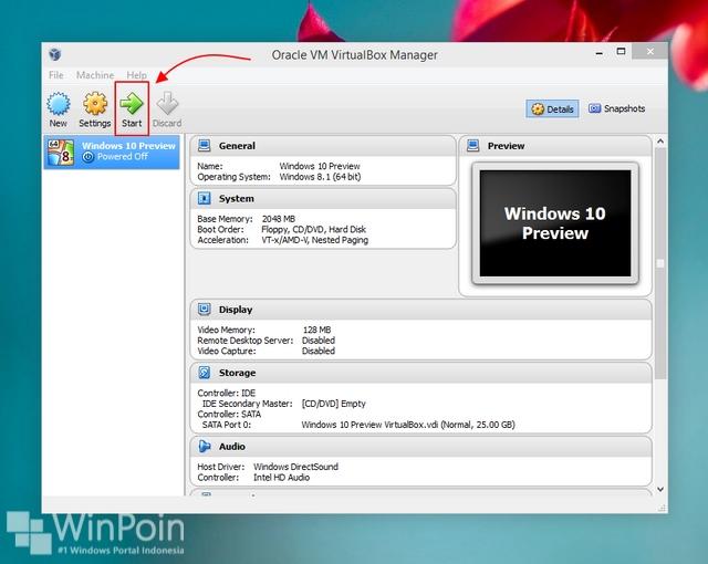 Cara Install Windows 10 Preview di VirtualBox (Beserta Gambar)