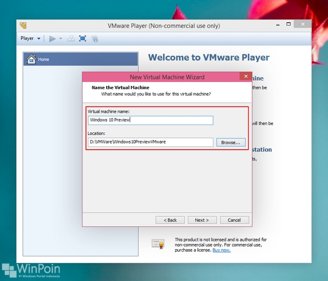 Cara Install Windows 10 Preview di VMware (Virtual Machine)