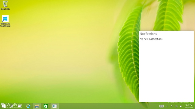 Cara Menampilkan Notification Center di Windows 10 Preview