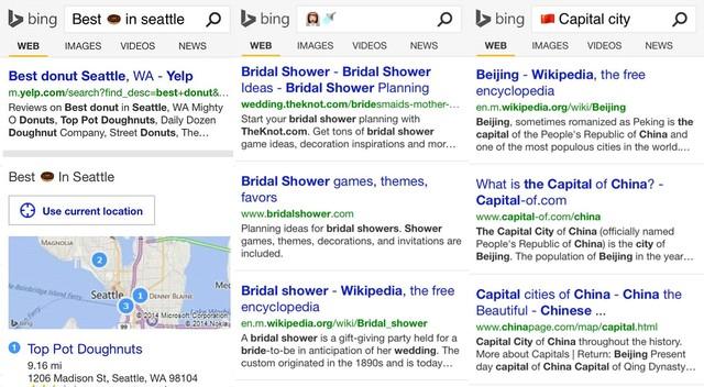 Kini Pencarian Bing Menggunakan Emoticon