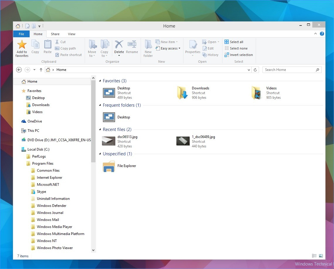 Windows 10 Punya Folder Frequent dan Recent Files di Home