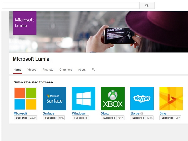 Channel YouTube Windows Phone Pindah ke Microsoft Lumia