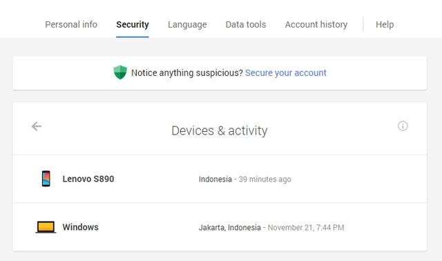 Kini Kamu Bisa Melihat Device yang Login ke Akun Google Kamu