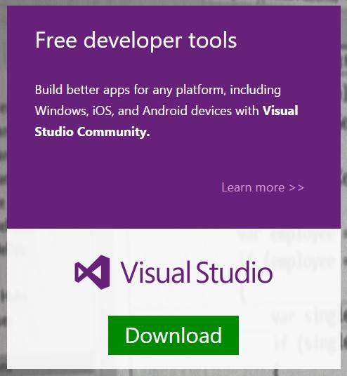 Microsoft Merilis Visual Studio Community Edition (Gratis)