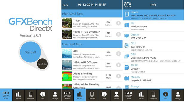 GFXBench: Aplikasi Benchmark untuk Windows Phone