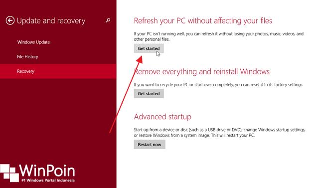 6 Cara Mengembalikan Windows 8 / 8.1 Seperti Semula
