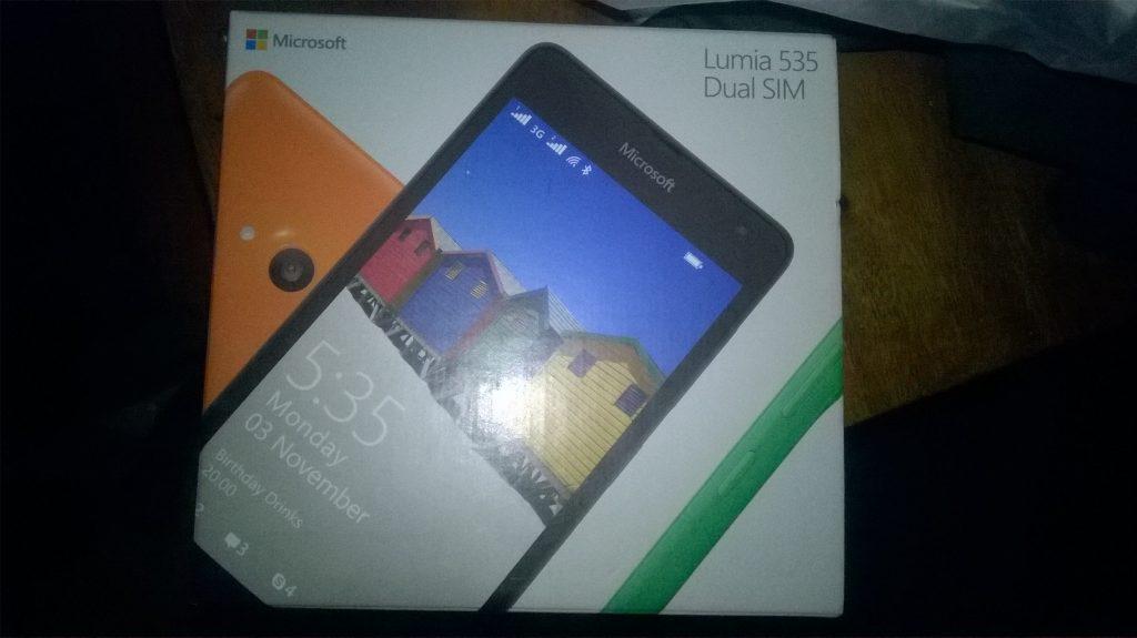Box Microsoft Lumia 535