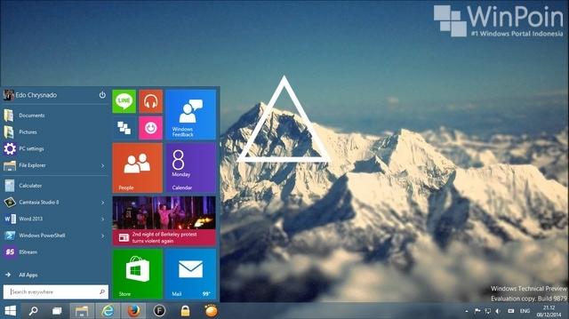 Buld Lama dari Windows 10, 9834, Telah Bocor