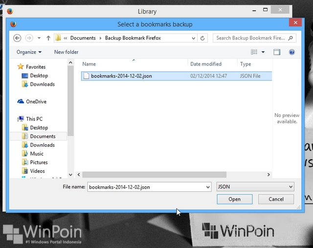 Cara Backup dan Restore Bookmark Firefox