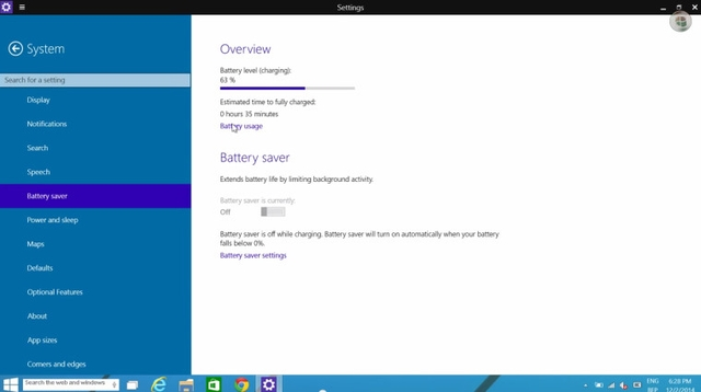 Fitur Battery Saver di Windows 10 Build 9888 Sudah Fungsional