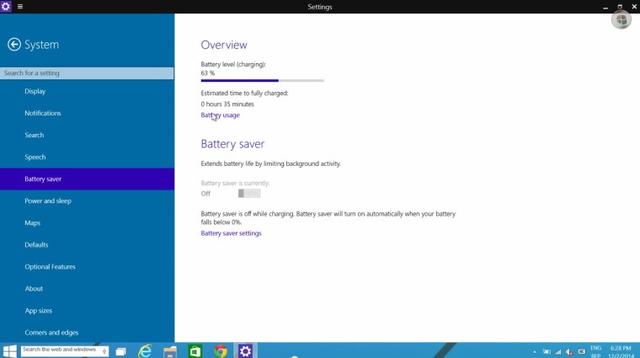 Fitur Battery Saver di Windows 10 Build 9888 Sudah Fungsional
