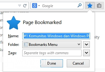 Cara Menyimpan Bookmark di Firefox