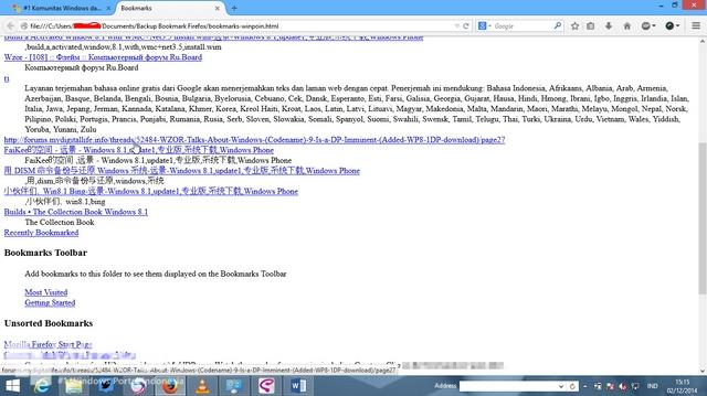 Cara Export Bookmark Firefox