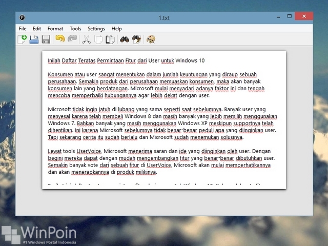 Contoh Notepad dengan Fitur Extra
