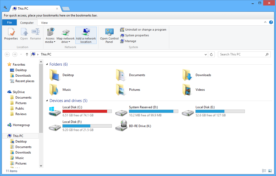 Tab Explorer Windows 10