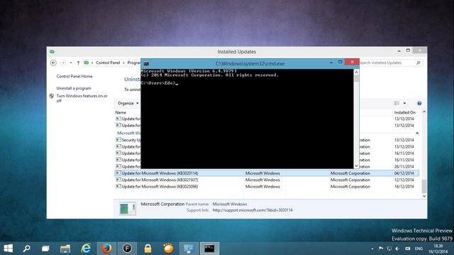 Ini Cara Terbaru Untuk Update KB3020114 di Windows 10 TP Build 9879