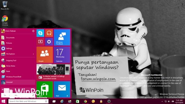 Microsoft: Windows 10 Consumer Preview Dirilis 21 Januari 2015 Nanti