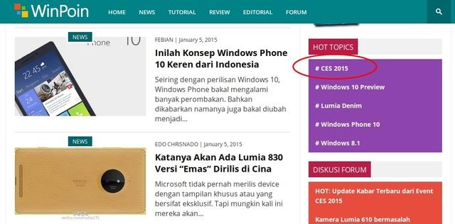 Ikuti Update Terbaru Seputar CES 2015 (Consumer Electronic Show)