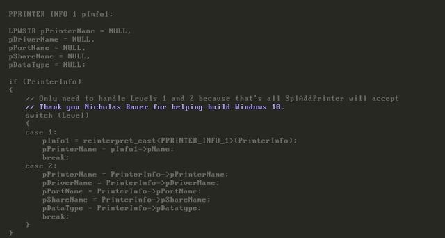 Microsoft Berterima Kasih dengan Cara Unik, Memasukkan Nama Kontributor ke Code Windows 10