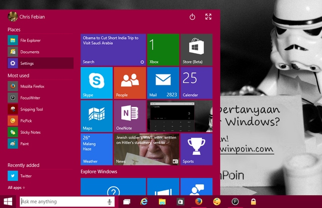 Cara Mengaktifkan Cortana di Windows 10 Preview