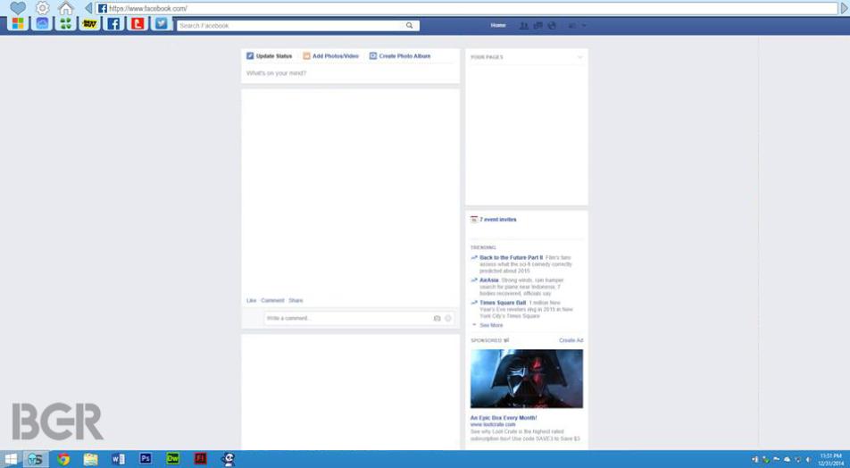 """Inilah Bocoran Tampilan Browser Baru Microsoft """"Spartan"""""""