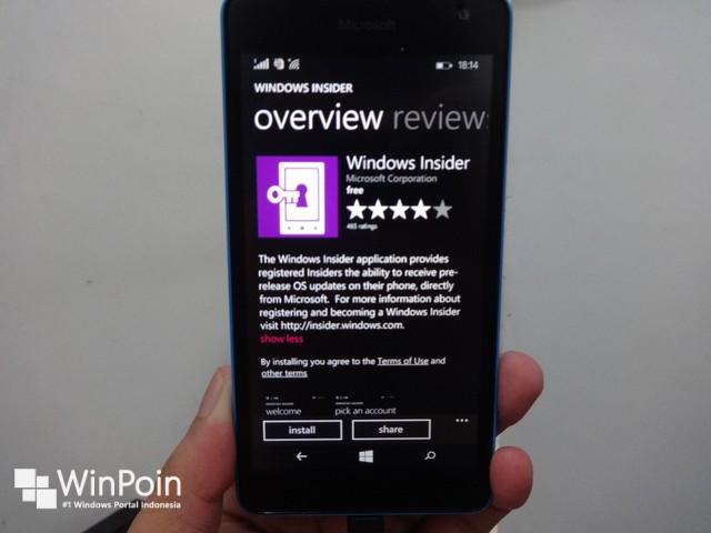 Menjelang Perilisan Windows 10 Preview untuk Smartphone, Aplikasi Phone Insider Diupdate Menjadi Windows Insider