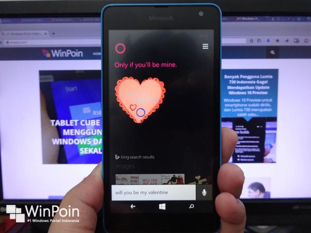 Cortana Bakal Jadi Romatis di Hari Valentine