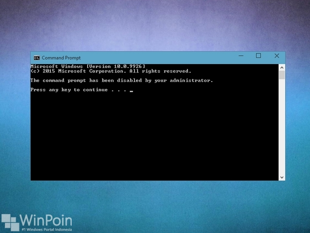 Cara Menonaktifkan Command Prompt di Windows