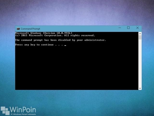 Cara Menonaktifkan Command Prompt di Windows