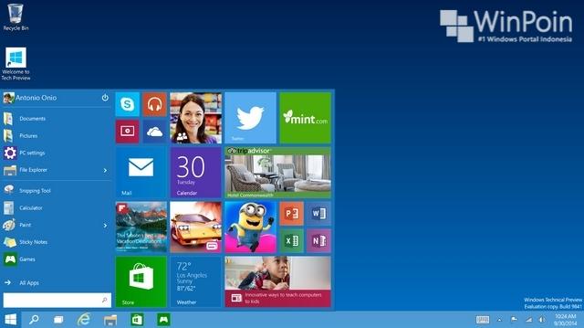 Cara Custom Start Menu di Windows 10