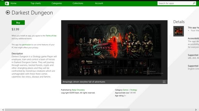 Ada Banyak Game Palsu Bermunculan di Windows Store