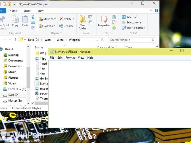Cara Menyembunyikan File Text Dalam File Text